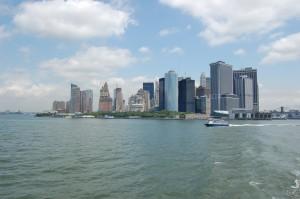 Manhattan sett fra havet.