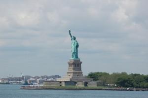 Frihetsgudinnen og Ellis Island
